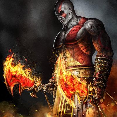 Kratos by samdenmarkart d6bck9e